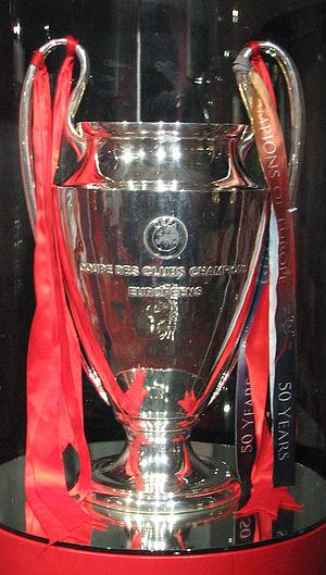 European Champion Clubs' Cup - An original trophy exhibited at the Anfield Museum of Liverpool, 2008