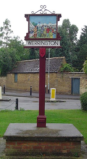 Werrington, Peterborough - Signpost in Werrington