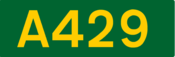 A429 road shield