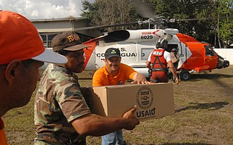 United States Agency for International Development - USAID Packages are delivered by United States Coast Guard personnel