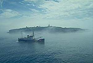 Lighthouse tender - Image: USCGC Fir off Cape Flattery
