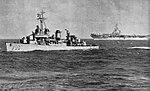 USS Benham (DD-796) escorts USS Yorktown (CVA-10), circa in 1954.jpg