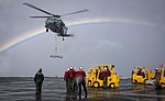USS Carl Vinson conduct a replenishment-at-sea with USNS Charles Drew. (32544236741).jpg