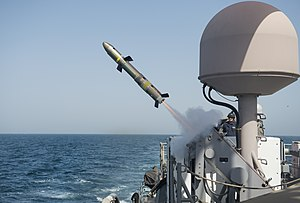 AGM-176 Griffin - Image: USS Firebolt (PC 10) fires a BGM 176B Griffin missile in June 2015