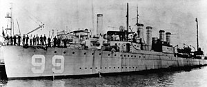USS Luce (DD-99) at the Boston Naval Shipyard, Massachusetts (USA), on 28 November 1919 (NH 51450).jpg