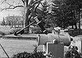 USS Maine Mast Memorial anchor and mortars - Arlington National Cemetery - 1999.jpg