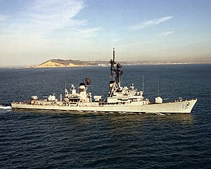 USS Robison - Image: USS Robison (DDG 12) underway off San Diego on 1 February 1986