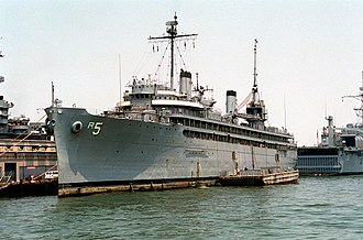 Repair ship - With a capable crew of qualified repairmen, USS Vulcan was kept in good repair for a long service life.