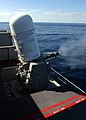 US Navy 040229-N-9907G-023 A Close-In Weapons System (CIWS) mount uses live rounds during a Pre-Aim Calibration Fire (PACFIRE) aboard USS Harry S. Truman (CVN 75).jpg