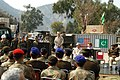 US Navy 060213-N-7024W-006 Director, General Pakistan Army Engineers, Major Gen. Imtaiz, speaks at a ceremony where U.S. Navy Mobile Construction Battalion Four (NMCB-4) Seabees turned over $2.5 million worth of construction eq.jpg