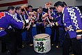 US Navy 070224-N-2959L-016 Senior leadership from the Ronald Reagan Carrier Strike Group and the Japanese Maritime Self Defense Force (JMSDF) perform a traditional breaking of the taru, or sake container.jpg