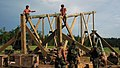 US Navy 070625-N-7367K-003 Seabees attached to Naval Mobile Construction Battalion (NMCB) 1, construct a guard tower that will overlook the battalion's forward operating base (FOB).jpg