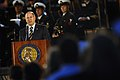 US Navy 071023-N-5549O-278 Secretary of the Navy (SECNAV) the Honorable Dr. Donald C. Winter delivers his remarks during a Medal of Honor Flag ceremony recognizing the actions of Navy SEAL Lt. Michael Murphy held at the United.jpg