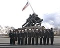 US Navy 080109-N-9769P-003 The Recruiters of the Year for Navy Recruiting Command stand in front of the Iwo Jima Memorial in Washington during Recruiter of the Year Week.jpg