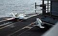 US Navy 080917-N-4995K-016 An F-A-18E Super Hornet launches off the flight deck of the Nimitz-class aircraft carrier USS Ronald Reagan (CVN 76).jpg
