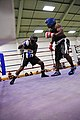 US Navy 100403-N-5579W-211 Logistics Specialist Seaman Abdullah Johnson, left, faces of against Hospitalman Brandon Wicker during the All-Navy Box-Off at Naval base Ventura County.jpg