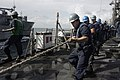 US Navy 100525-N-7699S-001 ailors aboard the guided-missile frigate USS Vandegrift (FFG 48) conduct a replenishment at sea with the Military Sealift Command dry cargo and ammunition ship USNS Richard E Byrd (T-AKE 4).jpg