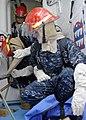 US Navy 100526-N-1947A-011 Sailors aboard the amphibious assault ship USS Makin Island (LHD 8) plug a ruptured pipe during a repair locker training drill.jpg
