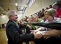 US Navy 110928-N-AC887-002 Secretary of the Navy (SECNAV) the Honorable Ray Mabus greets former Ackerman High School classmates.jpg