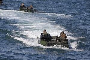US Navy 120201-M-DK975-055 U.S. Marine Corps amphibious assault vehicles conduct amphibious operations.jpg
