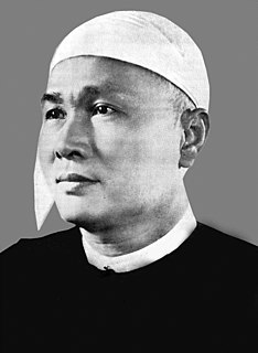 U Nu Burmese nationalist and political figure