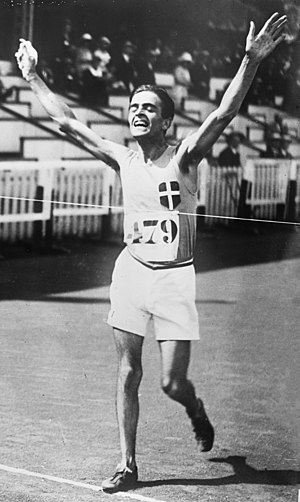 Ugo Frigerio - Frigerio winning the 10 km walk at the 1920 Olympics