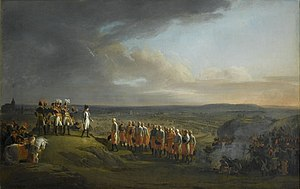 Battle of Dürenstein - Gen. Mack and his staff surrender the Ulm fortress. Painting by René Théodore Berthon