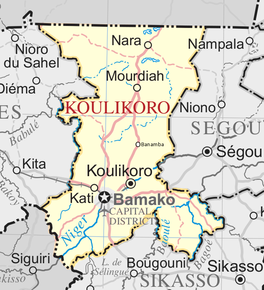 Location of Koulikoro