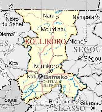 Koulikoro Region - Map of Koulikoro Region.