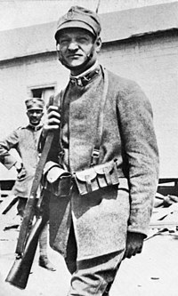 Ungaretti in Italian infantry uniform during World War I