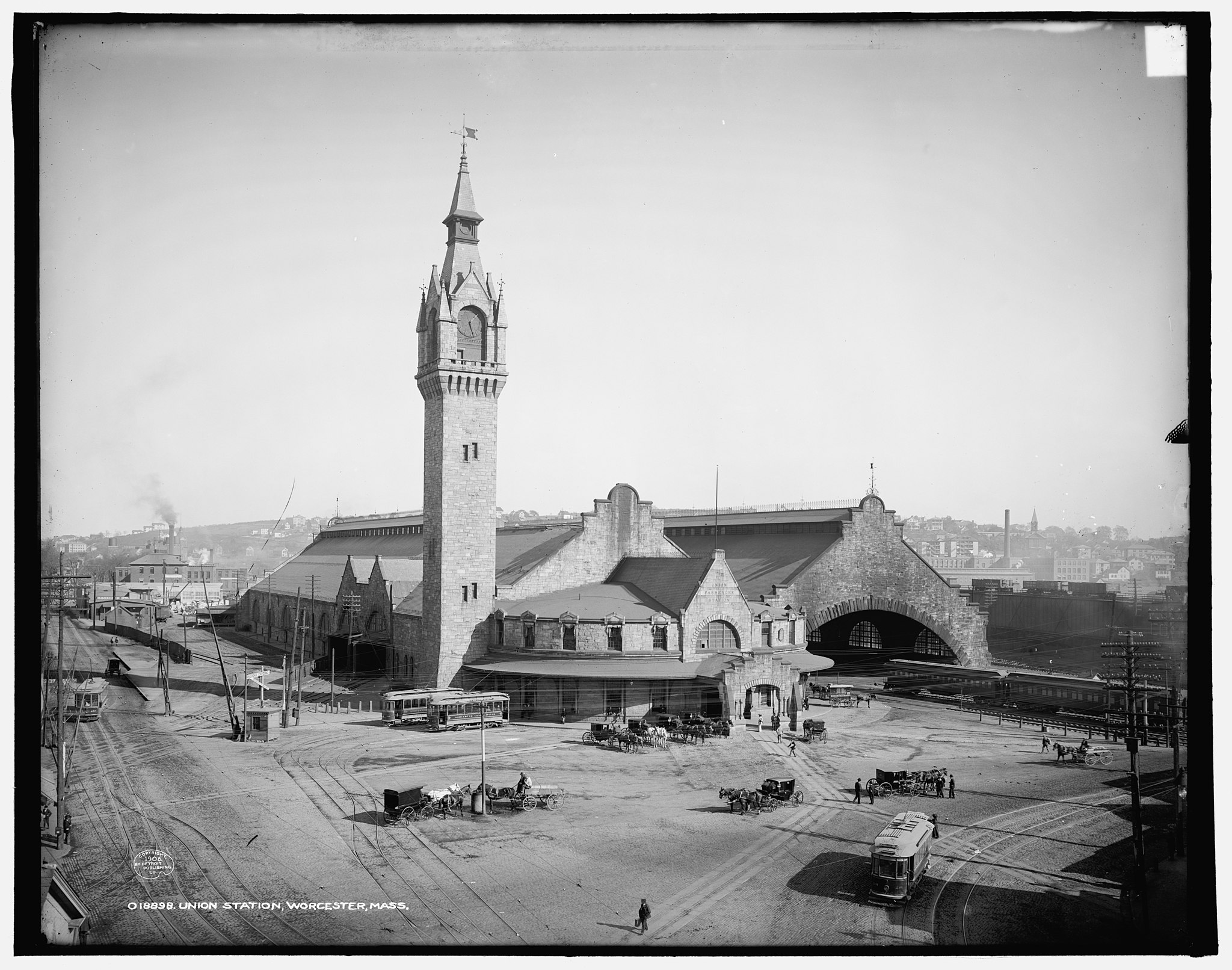 The Old Union Station, Worcester MA, 1906