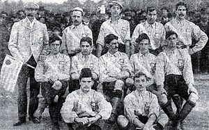 Uruguay national football team - Uruguay before its second official match (vs. Argentina), in July 1902