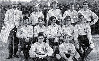 Uruguay national football team - Uruguay before its first match (official) v Argentina, July 1902