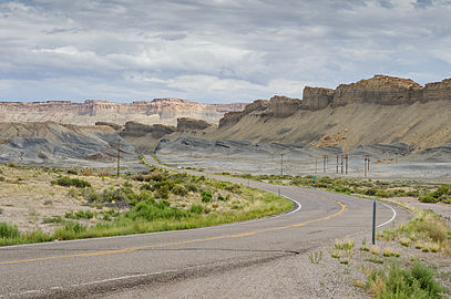 Utah State Route 24, Near Mile 92 view in Direction North-West 110814 2.jpg