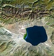 Endorheic basin in Central Asia