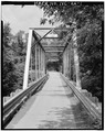 VIEW OF EASTERN PORTAL - North Carolina Route 1412 Bridge, Spanning Leepers Creek, Laboratory, Lincoln County, NC HAER NC,55-LAB.V,1-1.tif