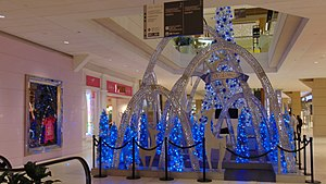 Bayshore Shopping Centre - Santa Claus' blue throne is located at the centre of the mall.