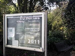 Hortus Botanicus Vrije Universiteit Amsterdam - Entrance on Van de Boechorststraat