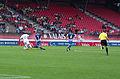 Valais Cup 2013 - OM-FC Porto 13-07-2013 - Jordan Ayew, Marat Izmaylov, Josué, Alain Bieri.jpg