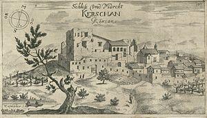 Kršan - Kršan in an engraving from 1679.