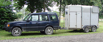 Horse trailer - A European-style horse box, light enough to be pulled by a smaller vehicle