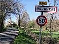 Vergheas (Puy-de-Dôme) city limit sign.JPG