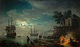 Vernet, Claude Joseph - Seaport by Moonlight - 1771.JPG