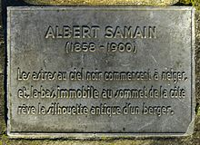 Albert samain wikip dia for Au jardin de l infante albert samain