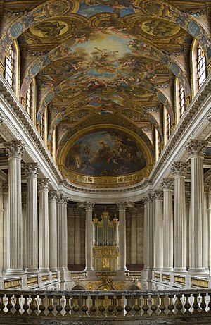 Royal chapel - Versailles' chapel as seen from the tribune royale, where the king and members of the royal family heard Mass