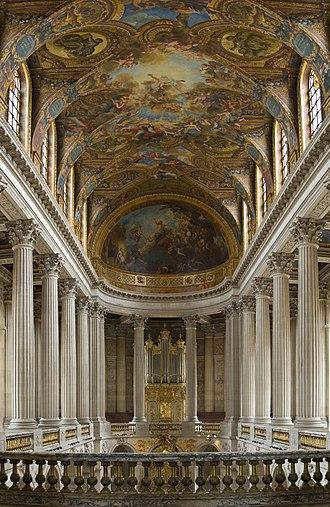 Chapels of Versailles - Versailles' chapel is one of the palace's grandest interiors. This is the view as seen from the tribune royale, where the king and members of the royal family heard mass.