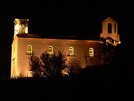 A night view of the old church in Septèmes-les-Vallons