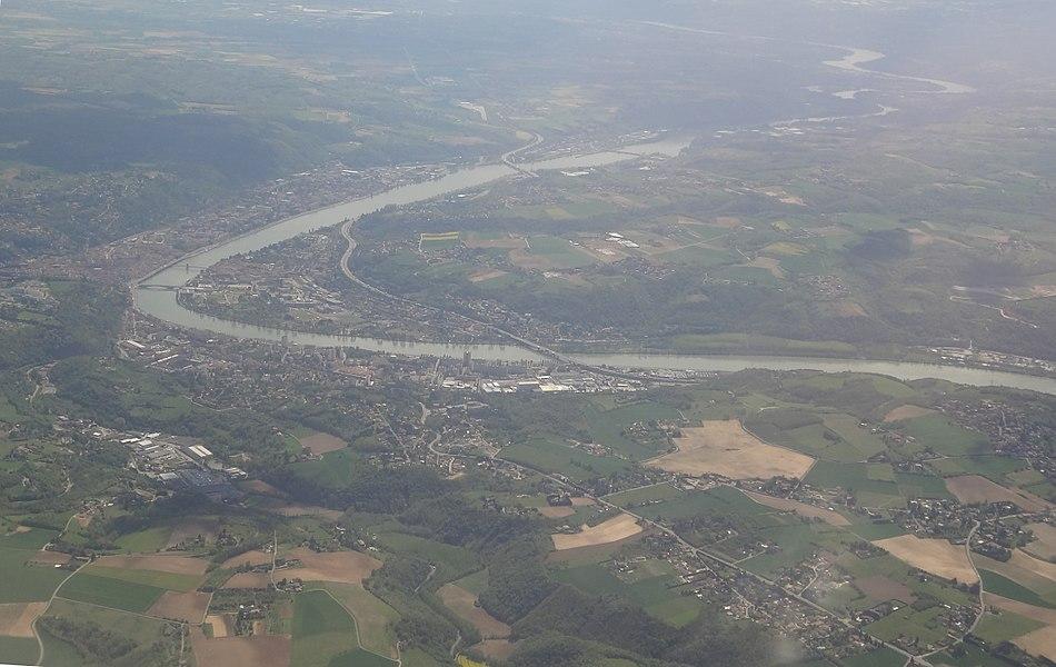 Vue aerienne de Vienne (France)