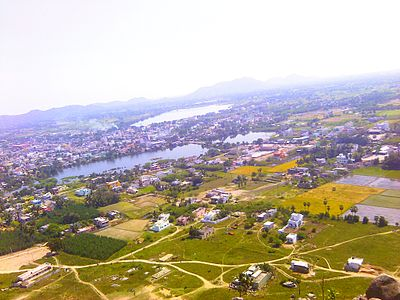 View from Queen's Fort Top – Gingee Town - Gingee Fort