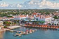 View from above of colorful buildings in Oranjestad on the island of Aruba in the morning sun.jpg